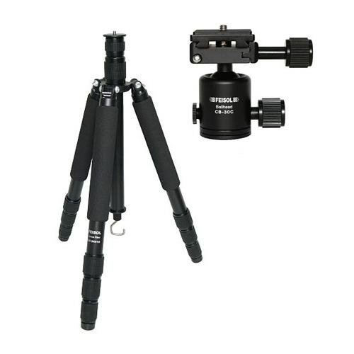 Feisol Travel CT-3441SB30 Rapid 4-Section Carbon Tripod with CB-30D Ball Head - Supports 44 lbs