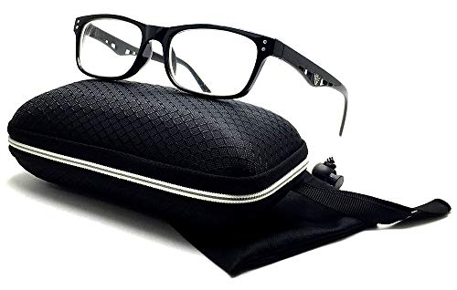 Nearsighted Shortsighted Myopia Distance Driving Glasses for Men Women Black Rectangular Frame