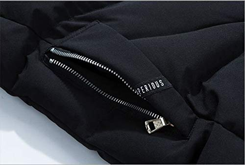 Size Winter Hooded Mens Padded Plus Jacket Warm Down Casual Color Solid Outdoor Coat Black Jacket Puffer 44T7F