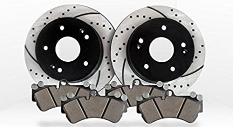 Front Brake Calipers Rotors /& Ceramic Pads For RANGER EXPLORER SPORT TRAC 4WD