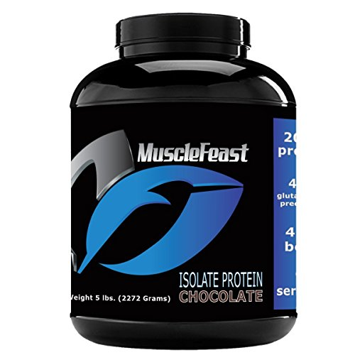 Grass Fed Whey Protein Isolate - by Muscle Feast | All Natural, Lactose Free and Homone Free | NO Soy, Gluten or GMOs | 4.6g of BCAA's Per Serving (5lb, Chocolate) by Muscle Feast