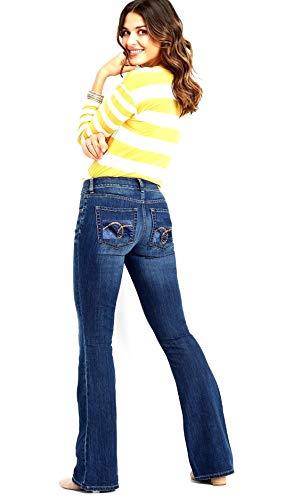 Wax / Jack David Jeans Womens Juniors 70s Trendy Slim Fit Flared Bell Bottom/Bootcut Denim Jean Pants (Jack David AWG0005 Straight Leg, 11) ()