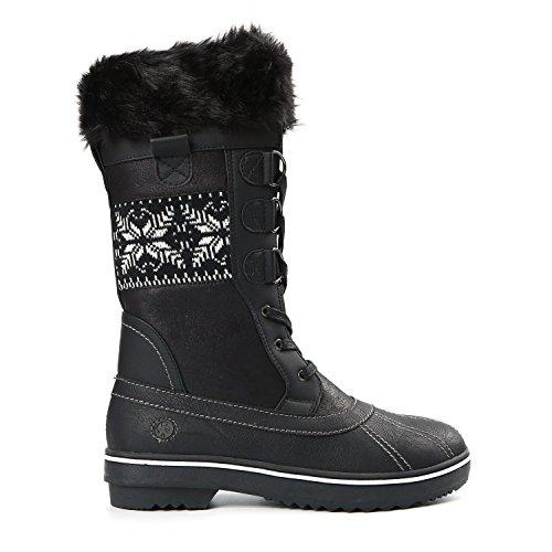 Northside Frauen Bischof Snow Boot Schwarz / Nordic