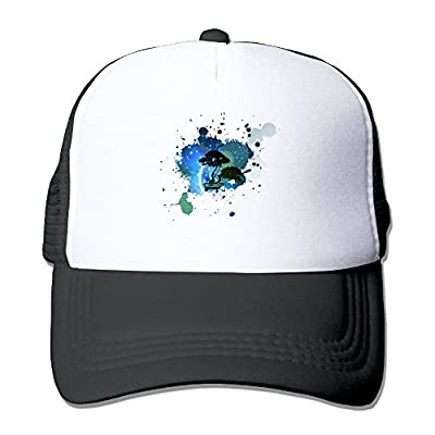 Yzygf Cap Bonsai Tree Icon Galaxy Men's Cool Adjustable Mesh Cap Graphic Mesh Cap Unisex