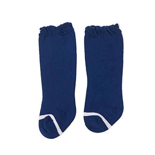 Cute Knee High Cotton Socks by FQIAO Thick And Warm Soft Unisex Baby Socks Autumn and Winter Breathable Best Gift for Newborn And Baby-M 1-3 Years Blue]()