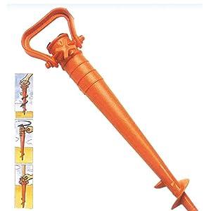 Picchetto per ombrellone spiaggia color arancione, picchetto con puntale in ABS per ombrellone mare lunghezza 40cm… 12 spesavip