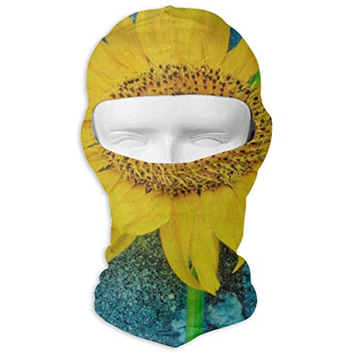 Balaclava Watercolor Blue Sunflower Flower Full Face Masks Motorcycle Neck Hood