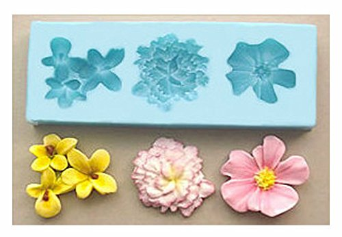 Medium Flower Set mold 465,Cake Decorating Supplies, Fondant Mold