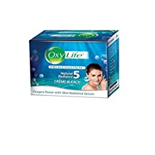 Oxylife Natural Radience Cream Bleach Oxygen Power with Skin Radiance Serum 9g by Oxy Life Cream Bleach