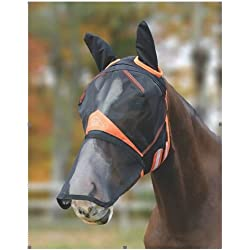 Shires Full Face Mesh Fly Mask With Zip-Off Nose - Warmblood