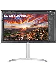 LG 27UP850-W Monitor IPS UHD (3840 x 2160) con Pantalla VESA HDR 400 con DCI-P3 95% de Gama de Colores, USB-C y Pantalla prácticamente sin Bordes, Soporte Ajustable en Altura/pivote/inclinación