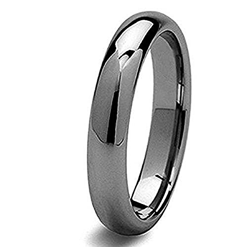 (Wholesale Gorgeous Simple And Stylish Tungsten Ring Gun Metal Color Wedding Band 7)
