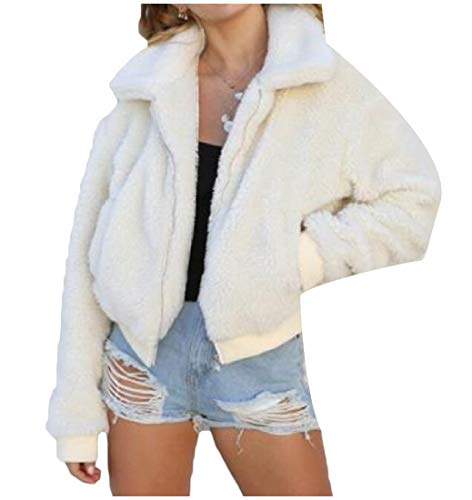 Fold Zipper White Long XINHEO Spring Pure Collar Color Jacket Women's Sleeve wAqp6HE