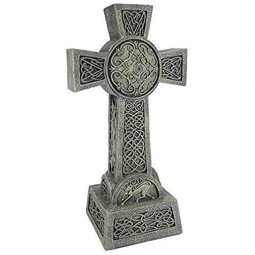 Design Toscano Donegal Celtic High Cross Statue - Irish Cross Statue - Memorial Statue