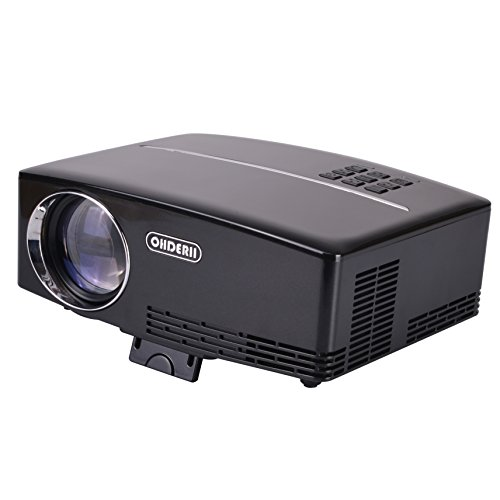 Ohderii projector mini projector 1800 lumens projector for Small video projectors reviews