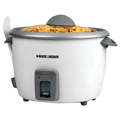 BLACK+DECKER RC5428 15-Cup Dry/28-Cup Cooked Rice Cooker, White