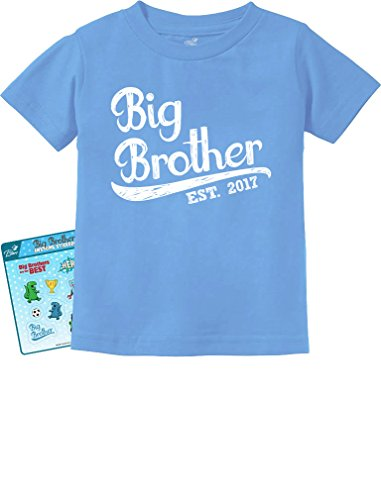 Price comparison product image TeeStars - Gift for Big Brother 2017 Toddler/Infant Kids T-Shirt 2T California Blue