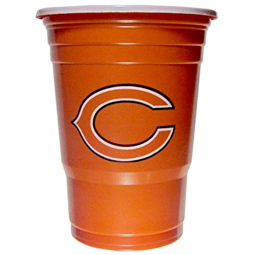 NFL Chicago Bears Plastic Game Day Cups, Orange, Adult -
