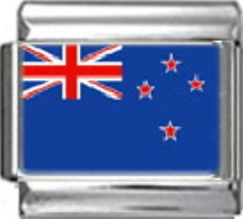 Stylysh Charms New Zealand Kiwi Flag Photo Italian 9mm Link - New Photo 9mm Italian Charm