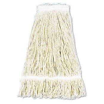 d Wet Mop Head, Cotton, 24oz, White, 12/carton (24 Ounce Cotton Web)