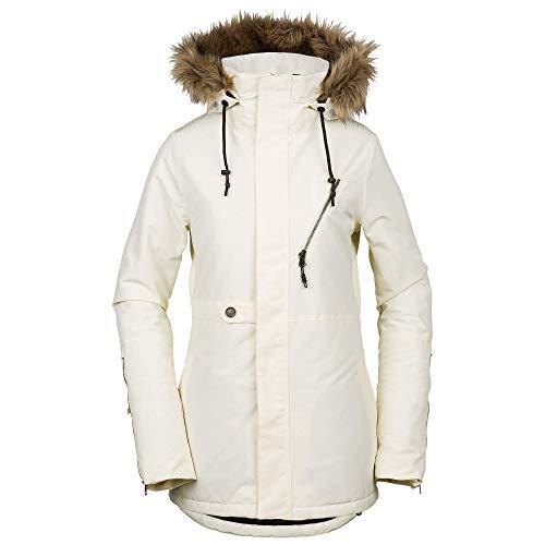 (Volcom Women's Fawn Insulated Snow Jacket, Bone, Medium)