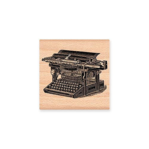 Ruskin352 Vintage Typewriter Gift Old Fashioned Retro Type Font Note Wood Sign Plaque Making Greeting Hello Stationary Office Craft Rubber Gift