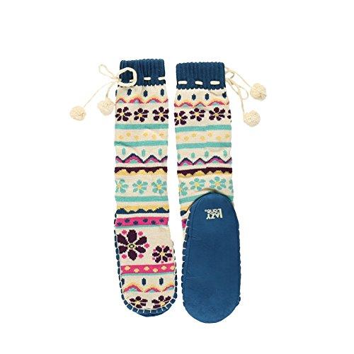 LazyOne MukLuk Slipper Socks For Women l Family Matching Christmas Pajamas (Large/X-Large, Flower Power)