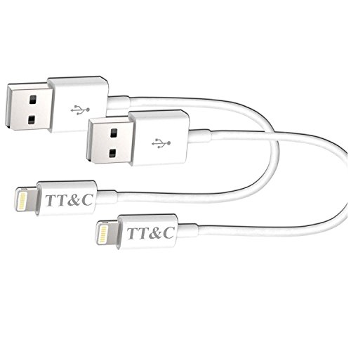TT&C iPhone Lightning Short Cable [ 3 inch White 2 Pack ] Supreme Quality Syncing and Charging Cable Data Cord for iPhone 8