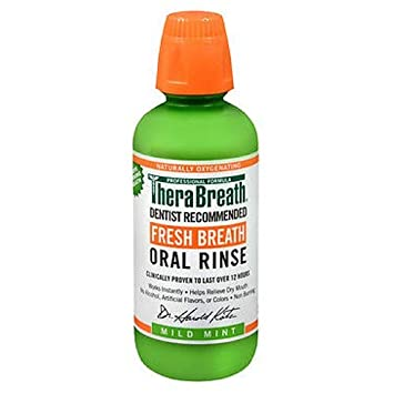 TheraBreath Fresh Breath Mild Flavor Oral Rinse, 16 OZ (Pack of 3) at amazon
