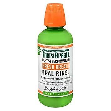 TheraBreath Fresh Breath Mild Flavor Oral Rinse, 16 OZ (Pack of 3) at amazon