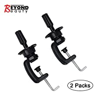 Wig Mannequin Head Stand Cosmetology Manikin Holding Clamp/Stand 2 packs