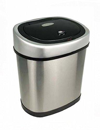 StealStreet TRASH-DZT-12-9 Stainless Steel Automatic Sensor 3.1 gallon Garbage Disposal, 15.2'' by Ninestars