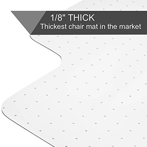 Transparent Mat - Heavy Duty Carpet Chair Mat Non Breakable Polycarbonate Thick And Sturdy Highly Transparent Premium Quality For Low And Medium Pile Carpets 36