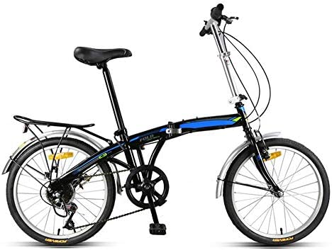 Saturey 7-Speed Plegable Bicicleta de 20 Pulgadas, Plegable ...