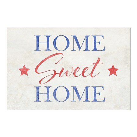 CGSignLab | ''Home Sweet Home'' Repositionable Opaque White 1st Surface Static-Cling Non-Adhesive Window Decal (5-Pack) | 30''x20'' by CGSignLab