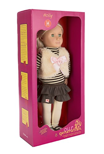 Our Generation Holly 18 Inch Doll With Tights Frilly