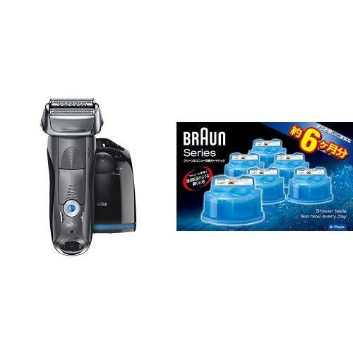 【セット買い】ブラウン シリーズ7 メンズ電気シェーバー 7867cc + アルコール洗浄液 6個入り CCR6 CR   B07G4RJGFL