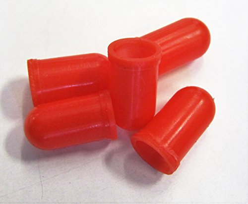 Red Bulb Cover Cap Boots, 5-Pack, fits 70, 73, 74, 85, 2721, 2722 and many more