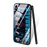 for iPhone XR, Tempered Glass Back Cover Soft Silicone Bumper Phone Case ZL-93 South Side Serpents Riverdale