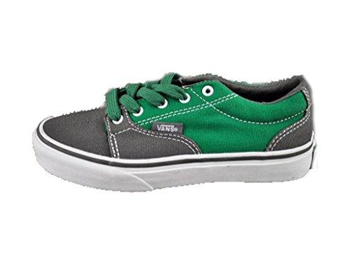Vans Zapatilla Atwood, Para Niños, Color Charcoal/Green/White, Talla: 31