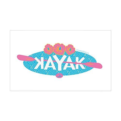 CafePress - Aloha Kayak Design Sticker - Rectangle Bumper Sticker Car (Paddle Aloha Design)