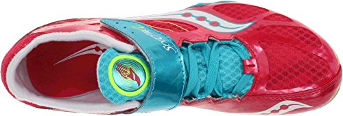 Image of Saucony Women's Spitfire 2, Red/Blue, 9.5 M US