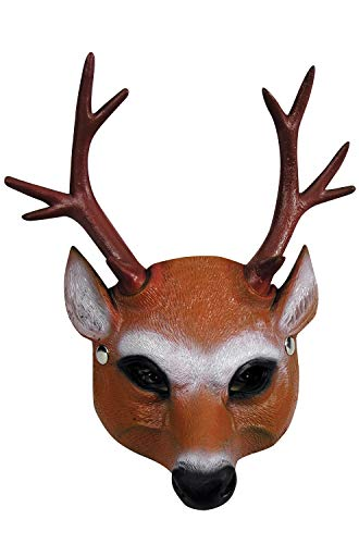 Forum Novelties 81458 Half Mask-Reindeer, 24, 1, As Shown, Any -