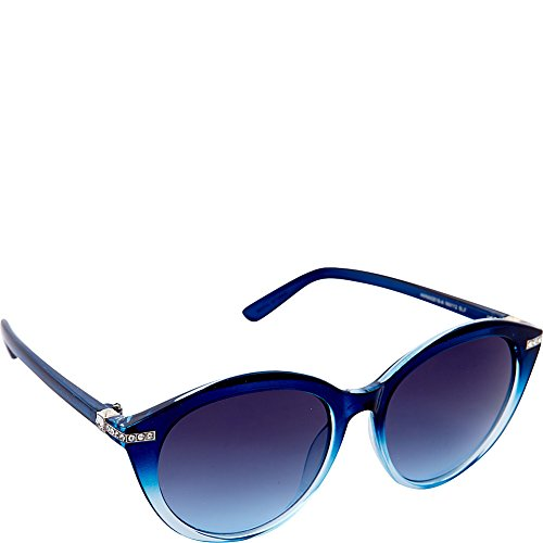 Nanette Nanette Lepore Sunglasses Round with Stone Sunglasses (Blue - Sunglasses Lepore Nanette