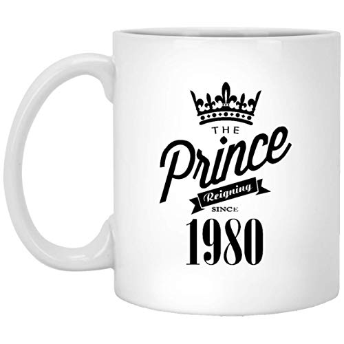 Birthday Coffee Mug - The Prince Reigning since 1979 Tea Cups - 39th Birthday Gifts, Coffee mug for Men on Xmas, Halloween or Special Events