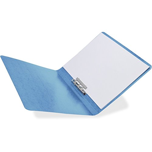 PRESSTEX Grip Punchless Binder With Spring-Action Clamp, 5/8 Inch Cap, Light Blue