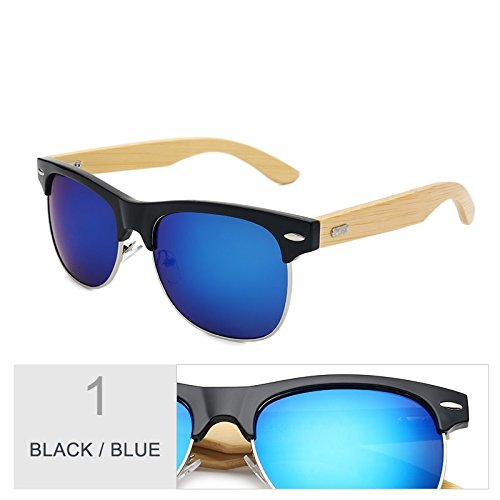 Oro De Mirroring Black Sol Unisex Negro Gafas Clásico Gafas Color Blue TIANLIANG04 De Rqwxz5gyI