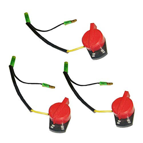 - LDEXIN 3Pcs ON Off Switch Gas Engine Stop Switch Engine Stop Kill Button On Off Switch Replacement for Small Engine Outdoor Power Equipment