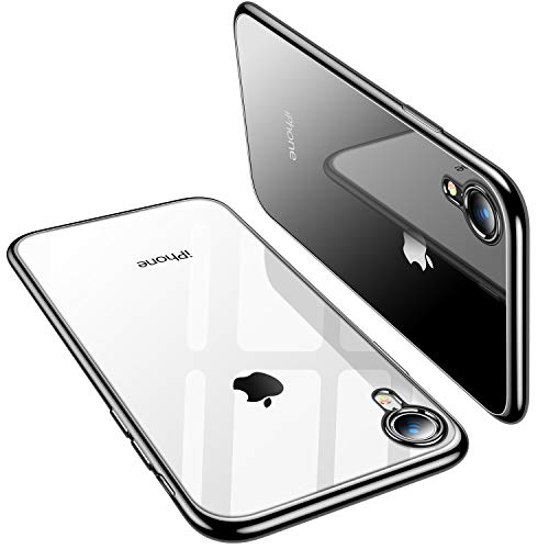 TORRAS Clear iPhone XR Case, Ultra Thin Slim Fit Soft Silicone TPU Protective Cover Cases Compatible with iPhone XR, Black