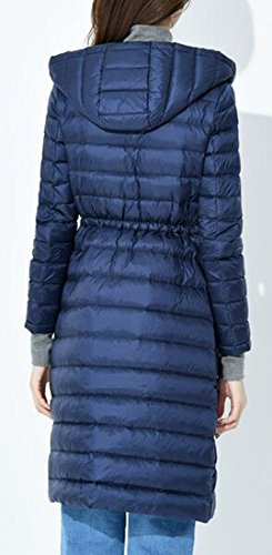 Fit Vita In Navy Oggi Piumino Coulisse Cappuccio uk Lunga Manica Blu Slim Con Donne Ya8Yq